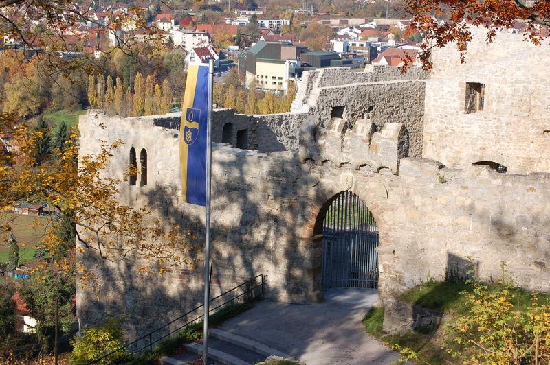Muehlacker - Burg mit Fahne